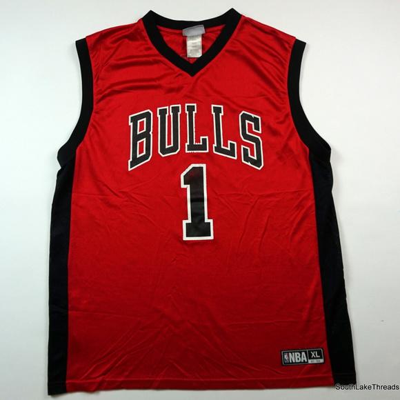 Derrick Rose Chicago Bulls Jersey  1 NBA Red XL 616299fdc